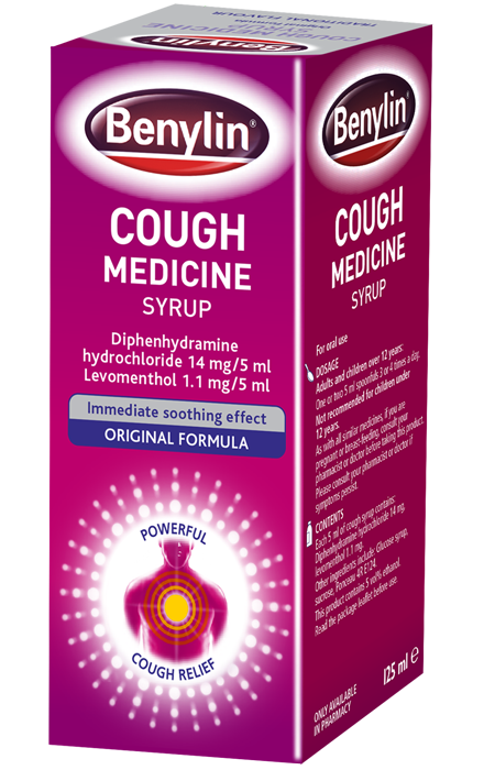suppressant cough Benylin formula adult